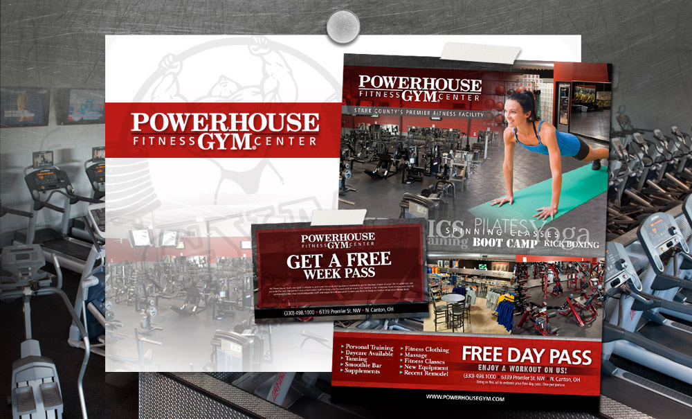 Powerhouse Gym of Canton Advertising Design