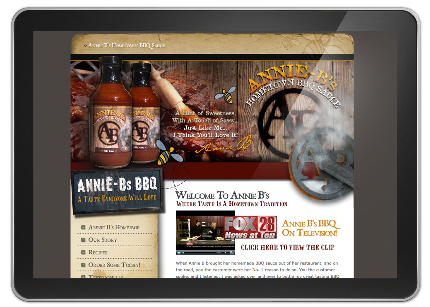 Annie Bs BBQ Sauce Website Design and Development - Lehman Design