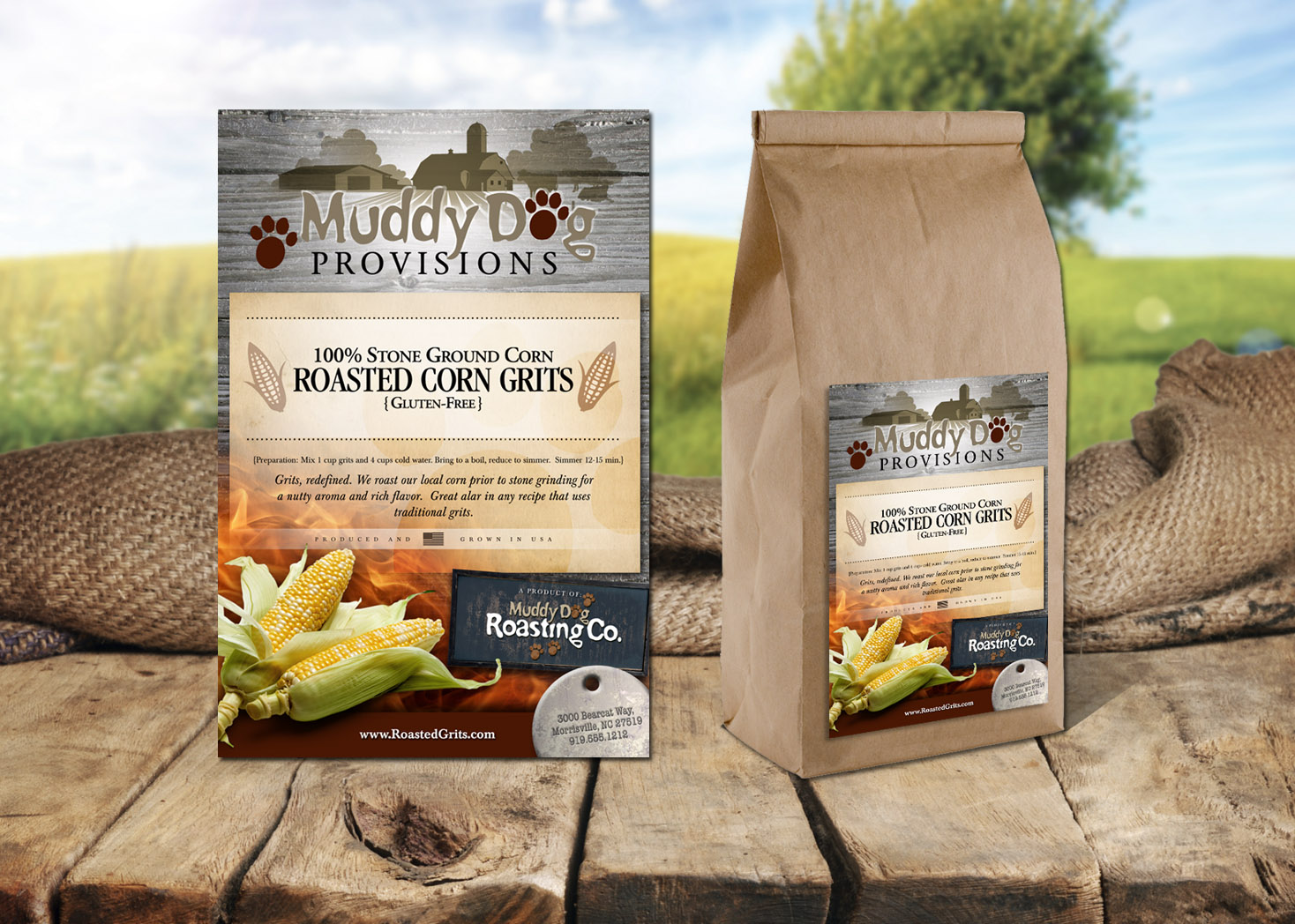 Muddy Dog Provisions - Package Design - Label Design