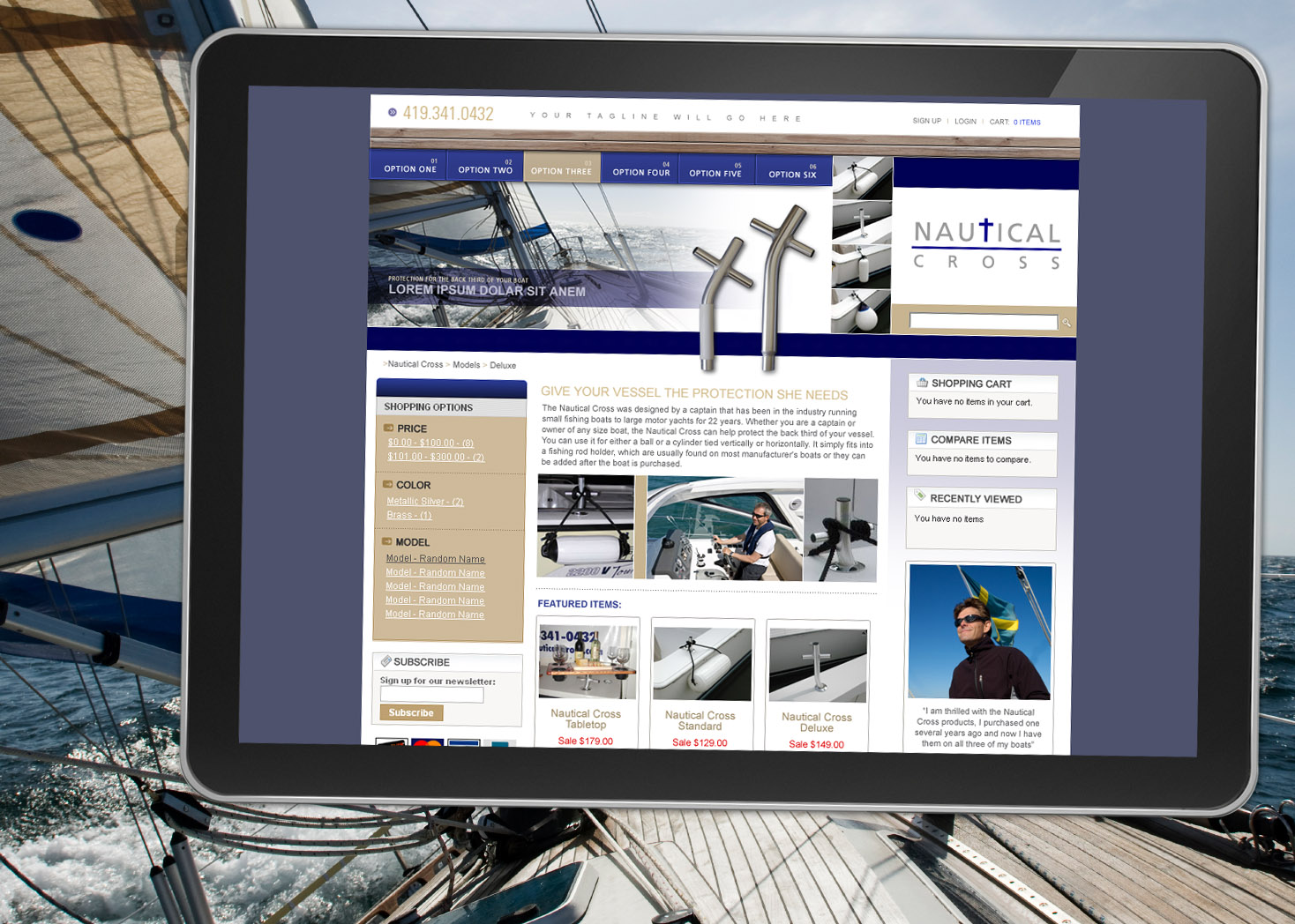 Nautical Cross eCommerce Website Design - Lehman Design