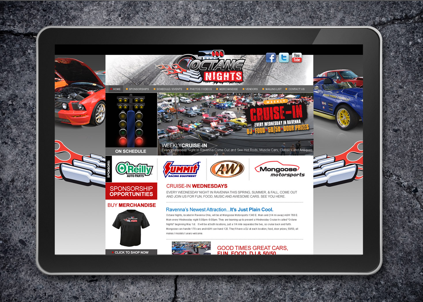 Octane Nights Responsive Website Design and Development - Lehman Design