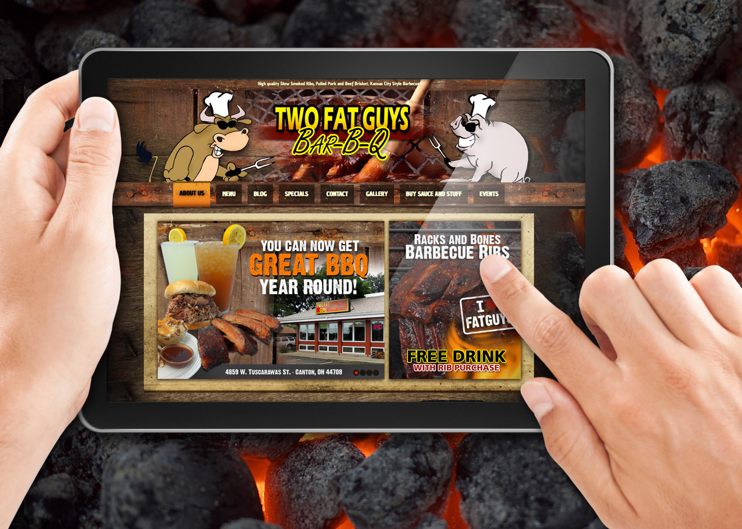 Two Fat Guys BBQ Website Design and Development - Lehman Design