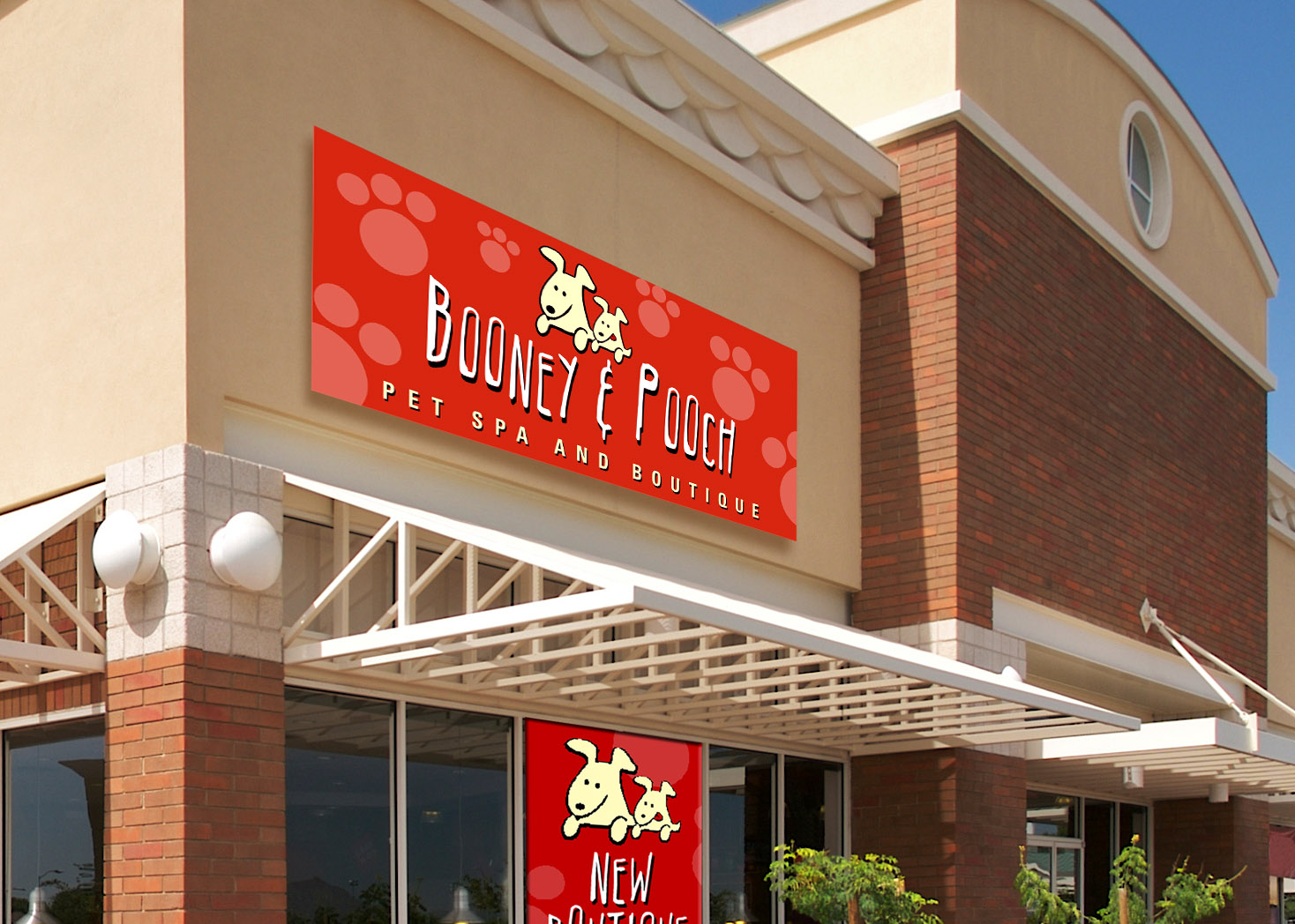 Booney and Pooch - Signage Design - Lehman Design