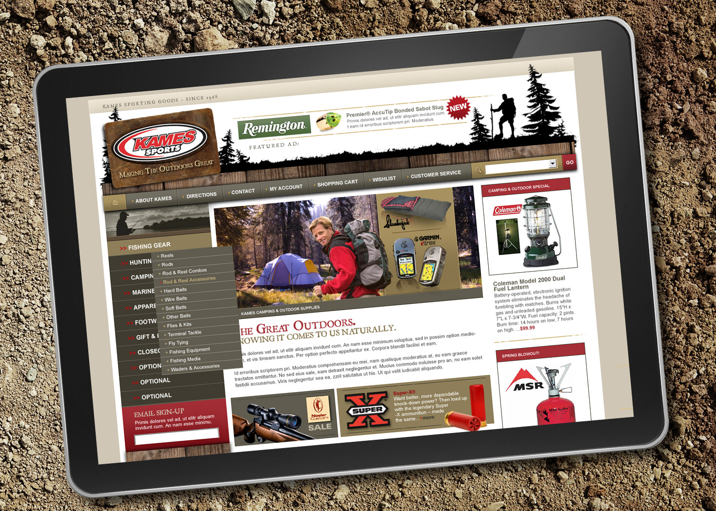 Kames Sports - Website Design and Development - Lehman Design