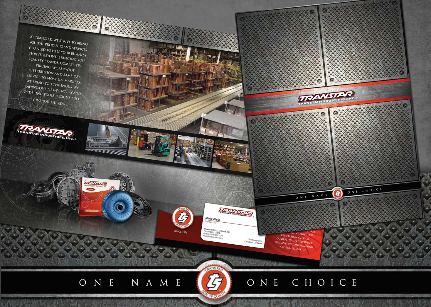 Transtar Industries - ocket Folder Design - Lehman Design
