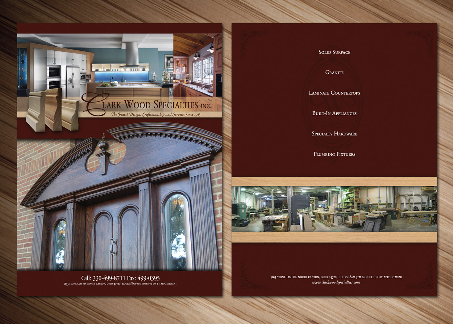 Clark Wood Specialties - Pocket Folder Design - Lehman Design