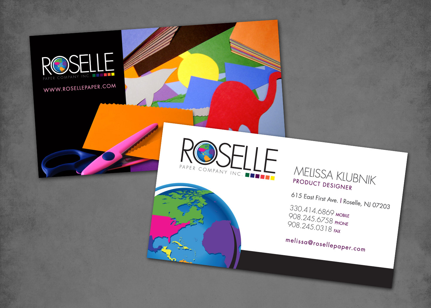 Roselle's World - Business Card Design - Lehman Design