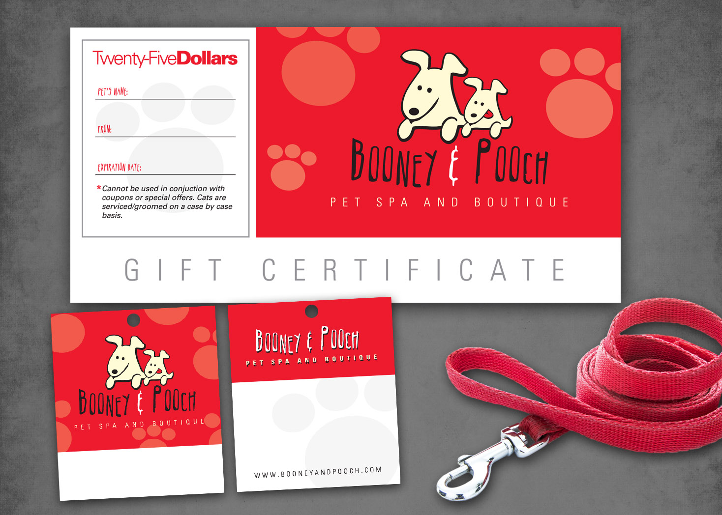 Booney and Pooch - Collateral Design - Lehman Design