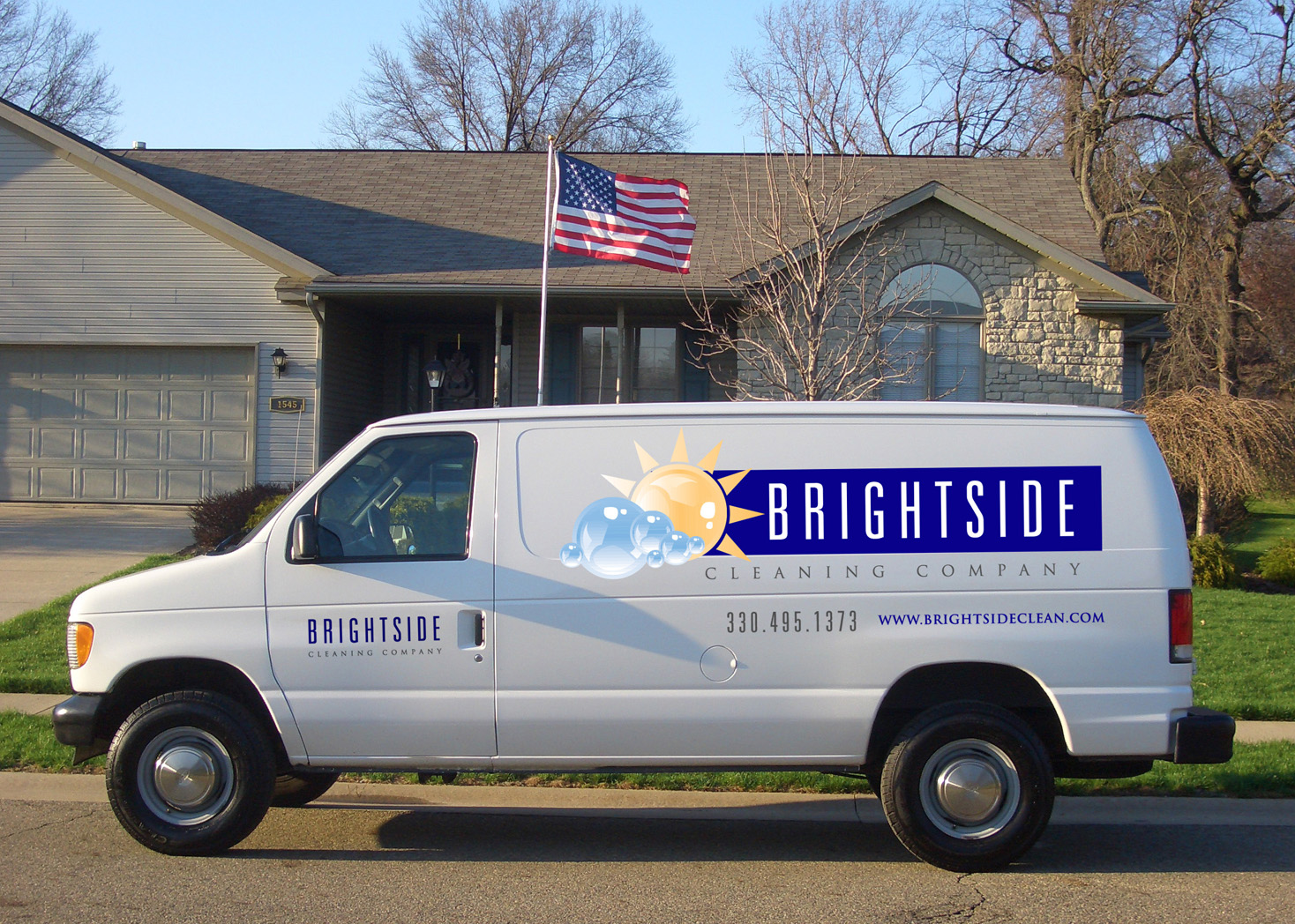 Brightside Cleaning Company - Vehicle Wrap - Lehman Design