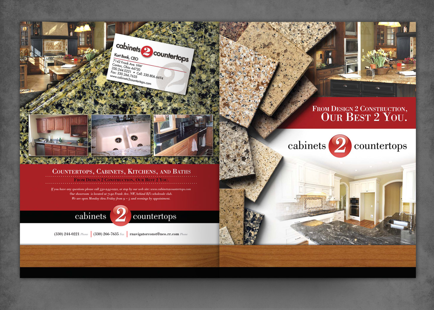 Cabinets 2 Countertops - Brochure Design - Lehman Design