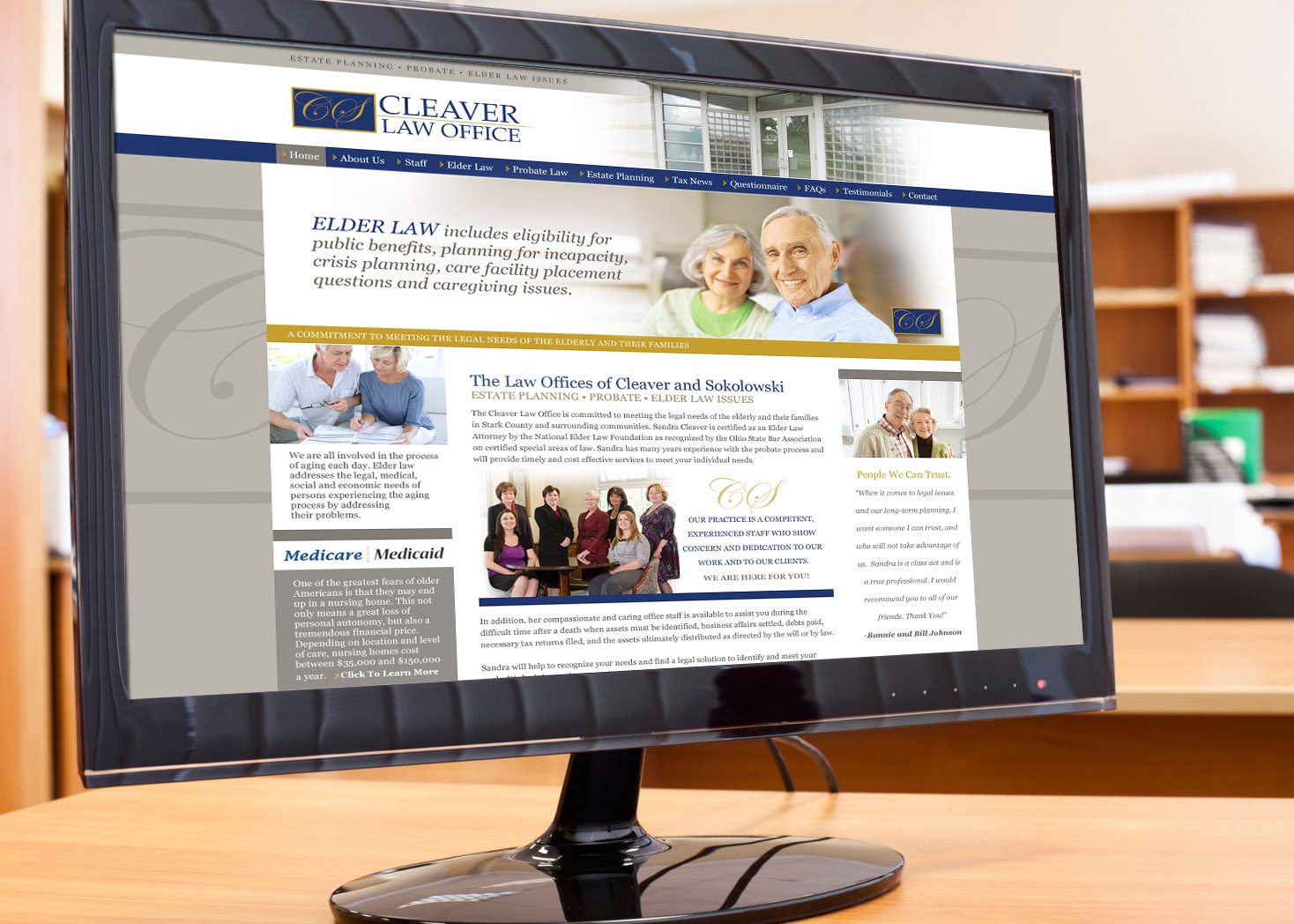 Cleaver Law Office - Website Design - Lehman Design