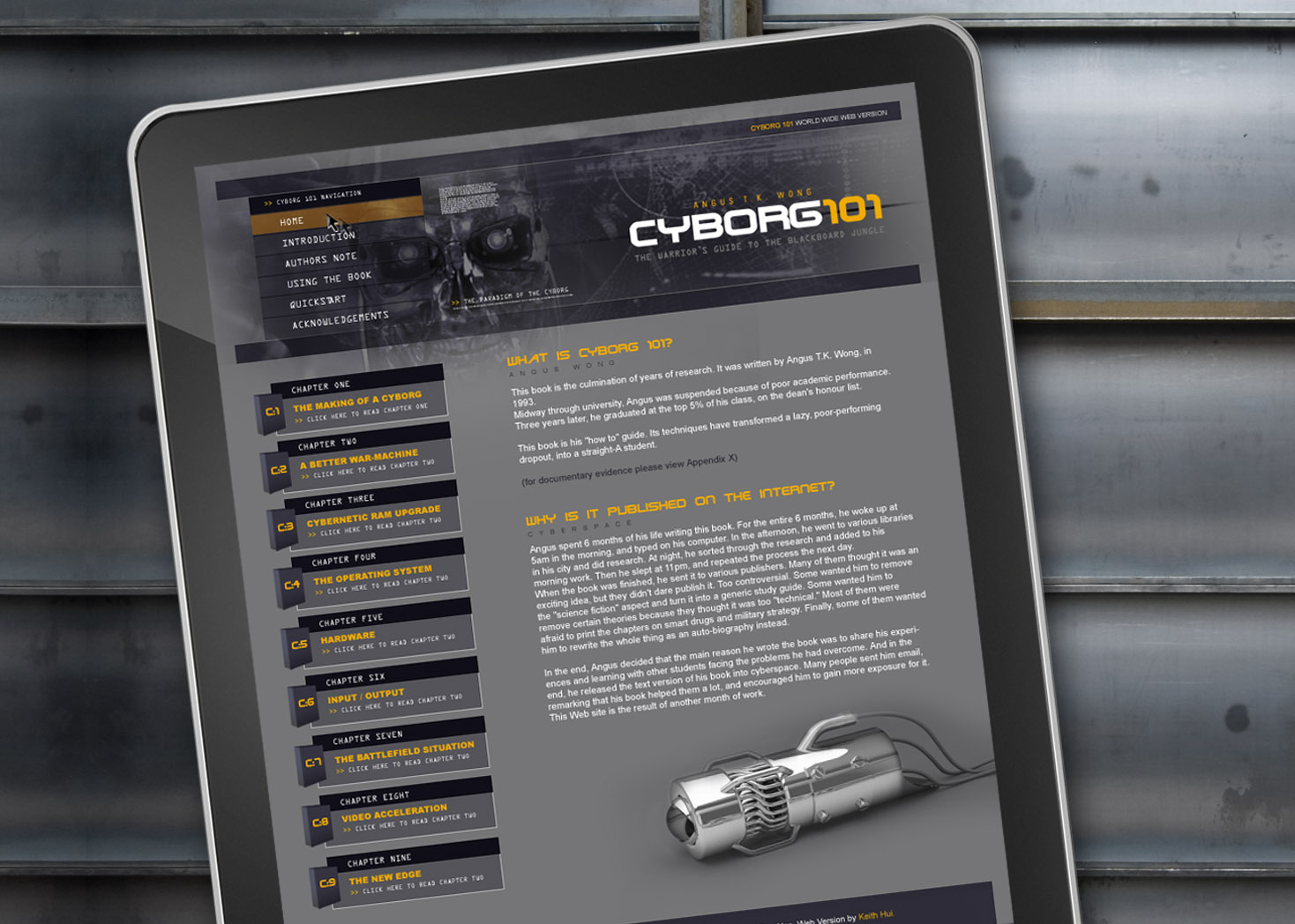 Cyborg 101 - Website Design - Lehman Design