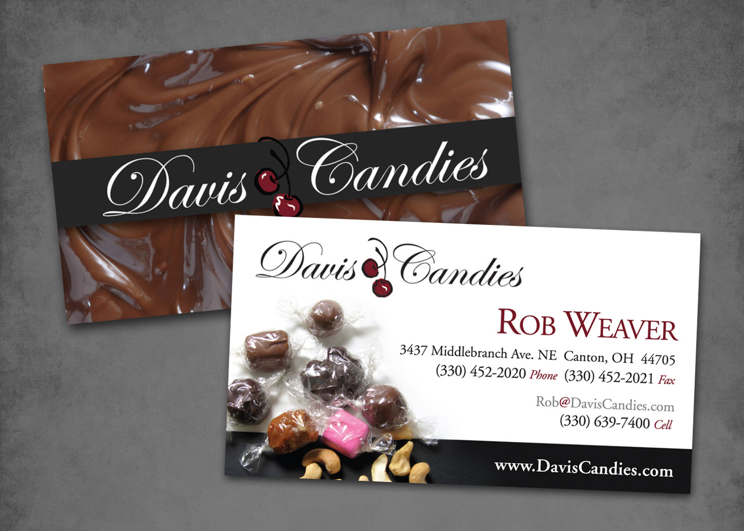 Davis Candies Business Card Design - Lehman Design
