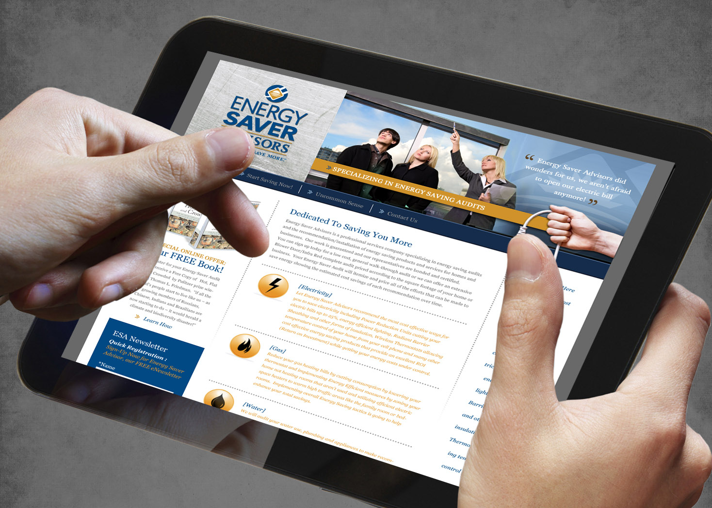 Energy Saver Advisors - Website Design - Lehman Design