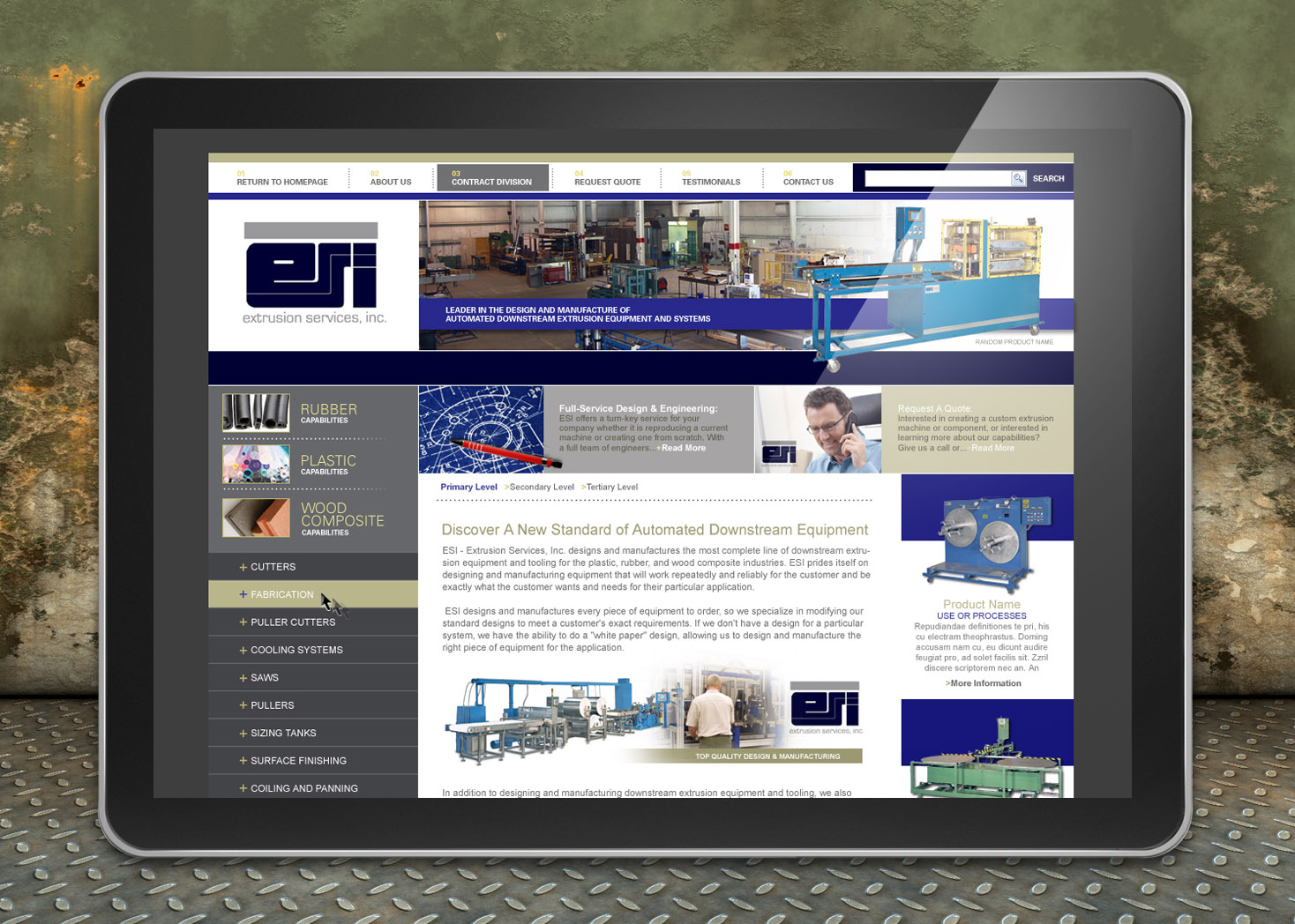 Extrusion Services, Inc. - Website Design - Lehman Design