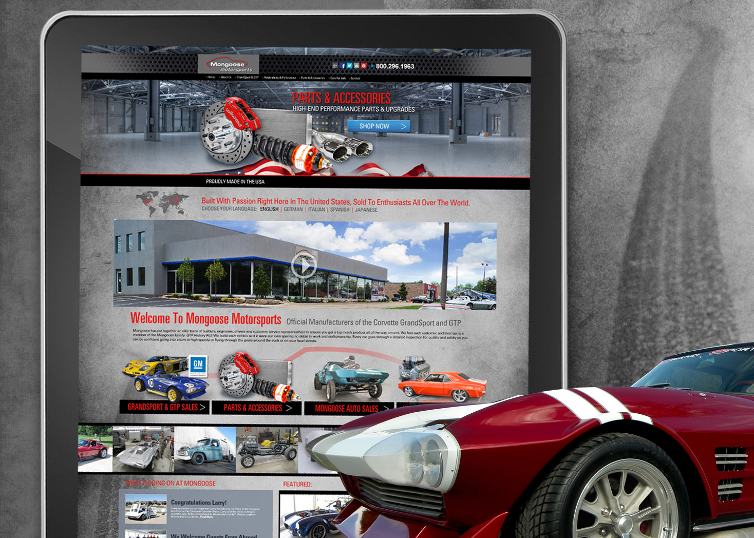 Mongoose Motorsports Website Design 2.0 - Lehman Design
