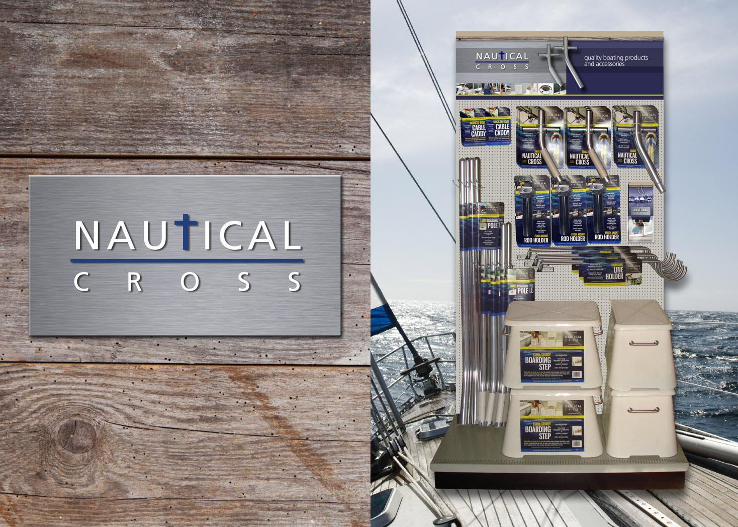 Nautical Cross Point of Purchase Display Design - Lehman Design