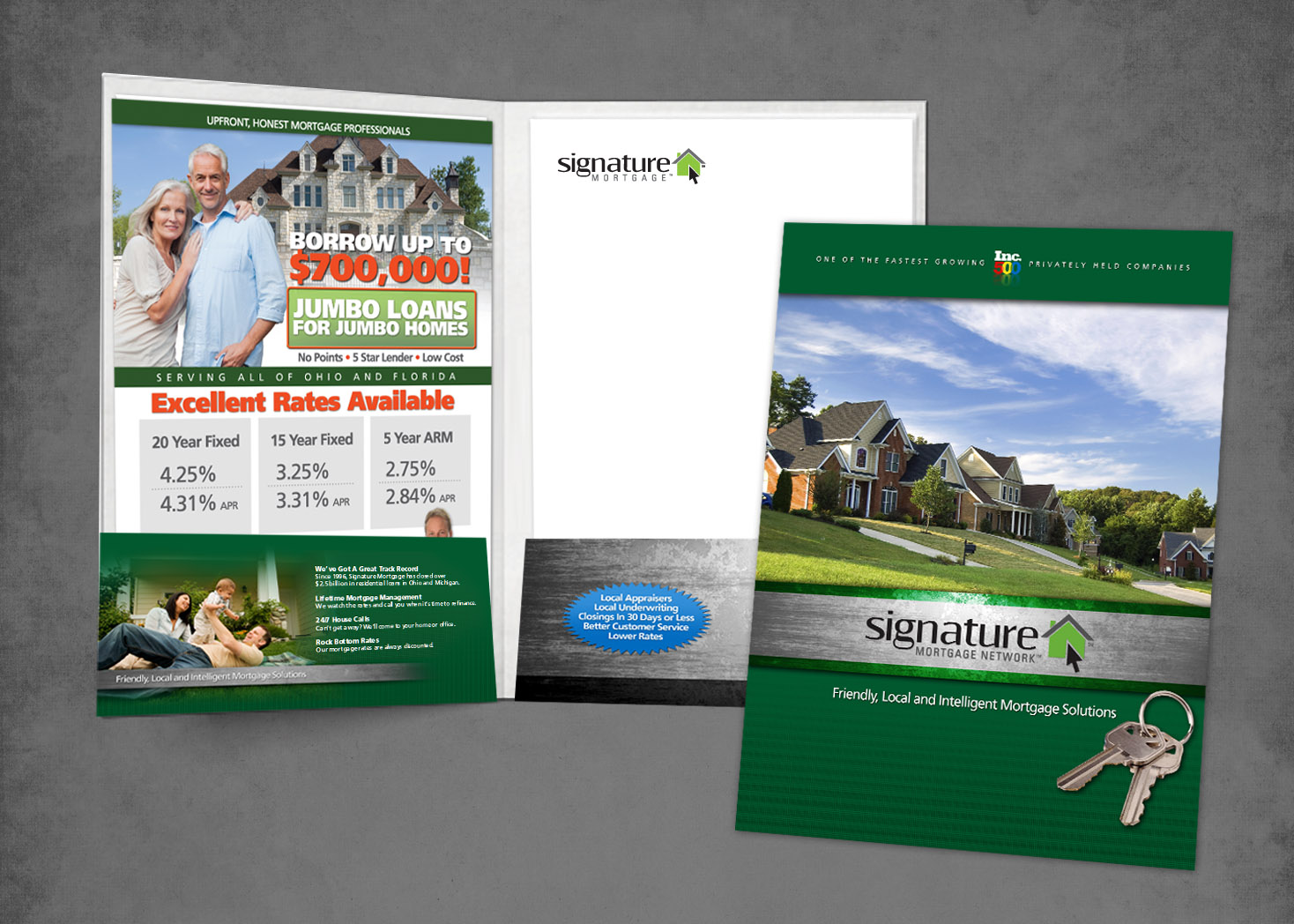 Signature Mortgage Pocket Folder Design - Lehman Design