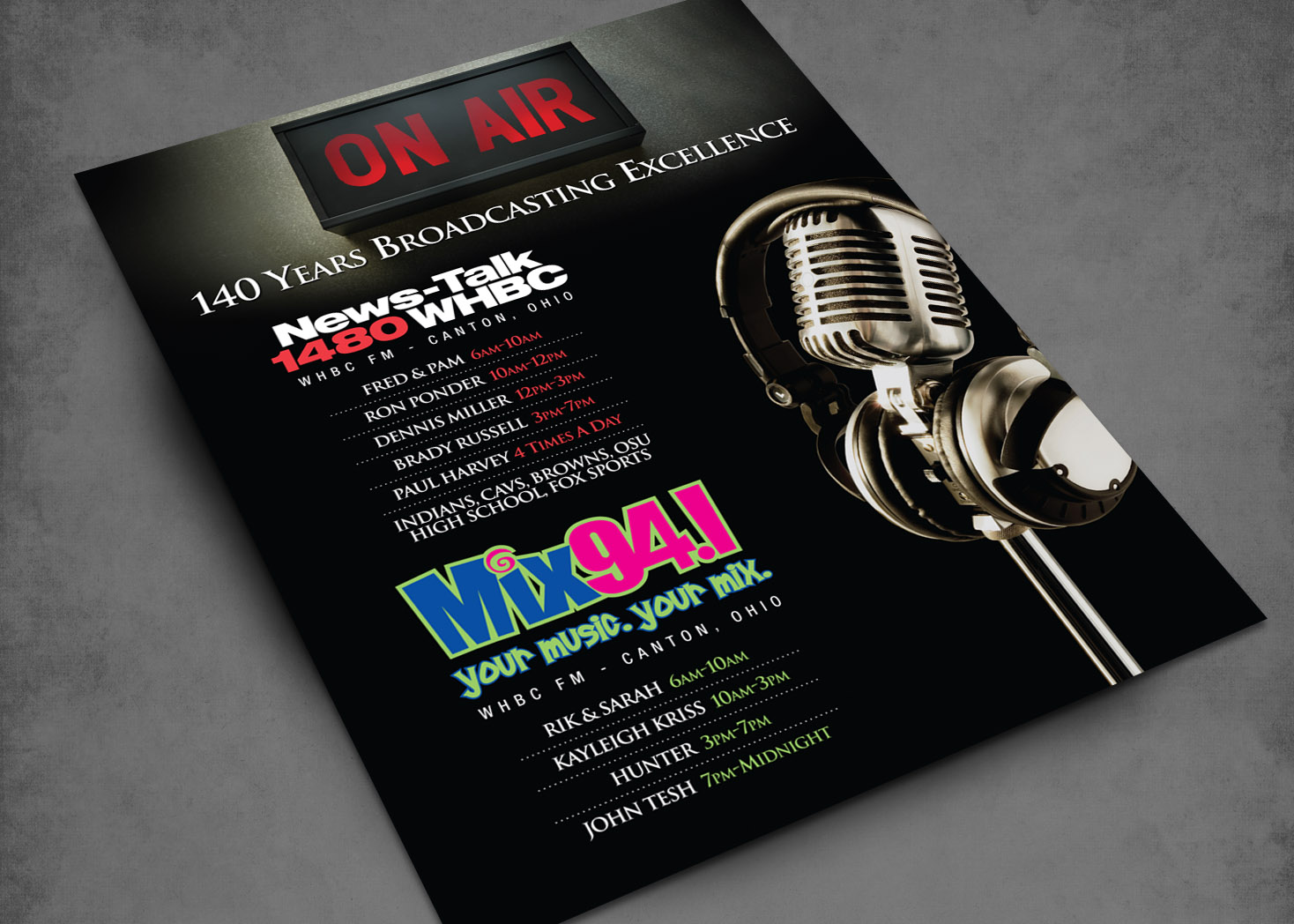 WHBC and Mix 94.1 Radio - Magazine Ad - Lehman Design