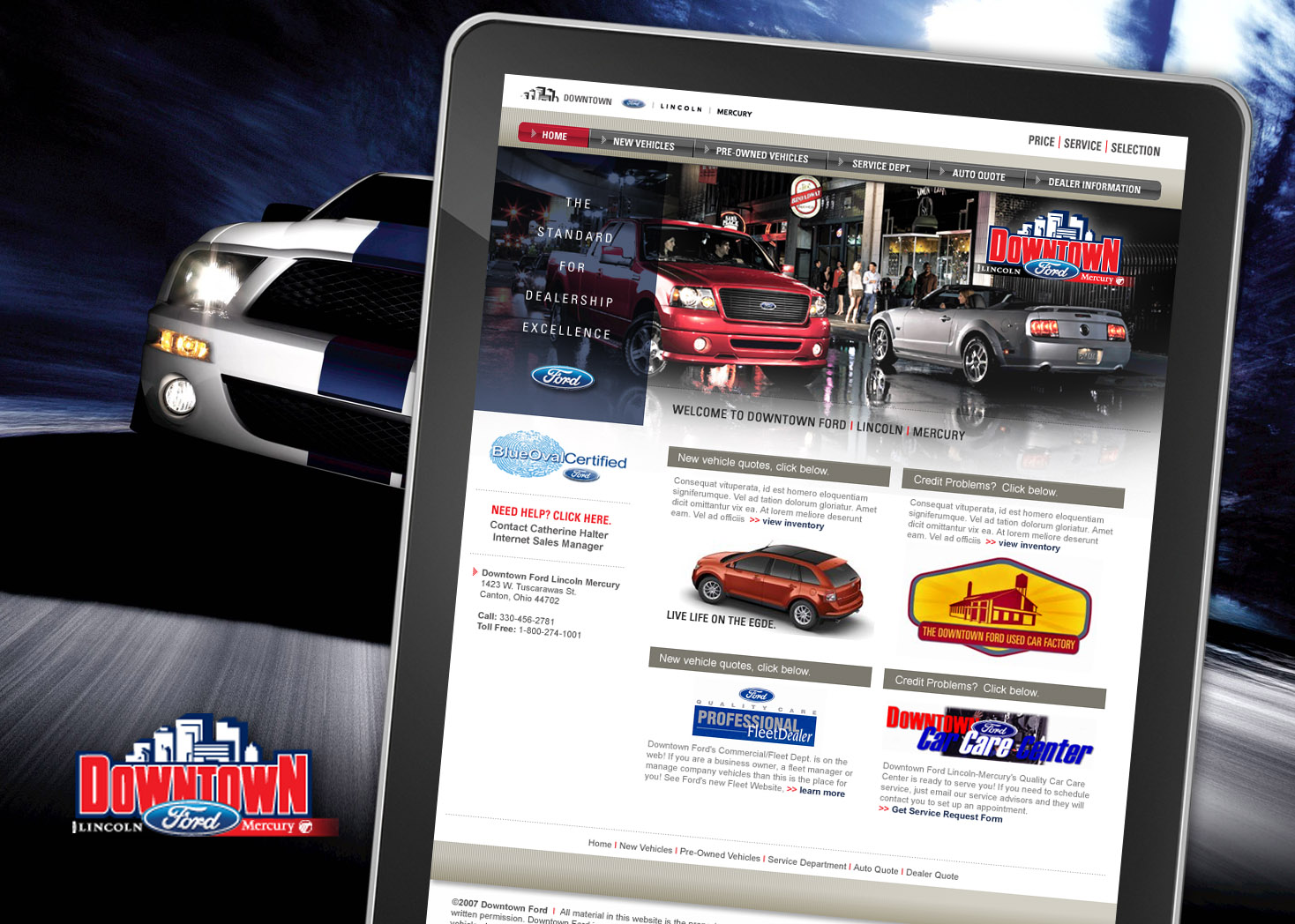 Downtown Ford - Website Design - Les Lehman Design