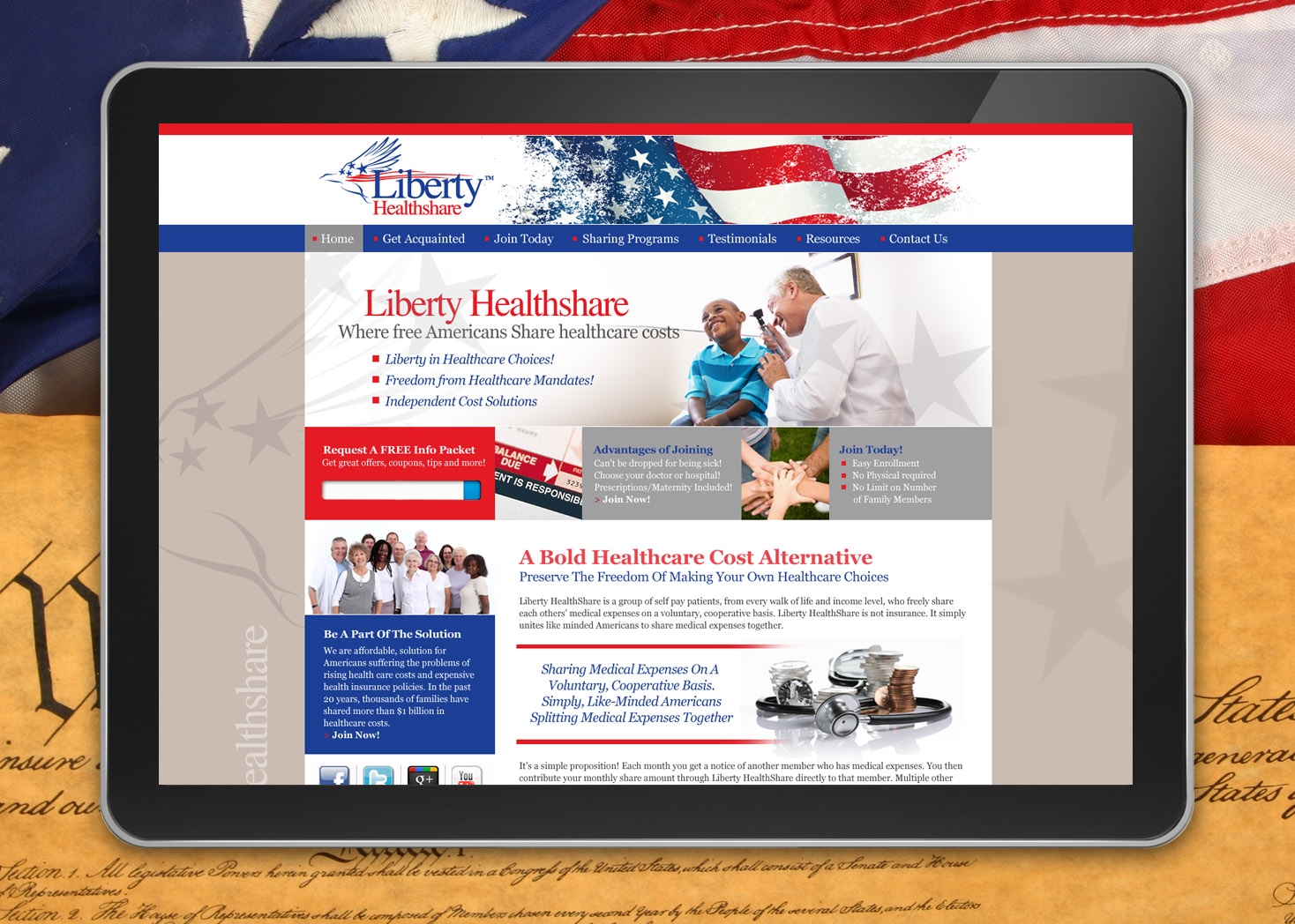 Liberty HealthShare - Website Design - Lehman Design