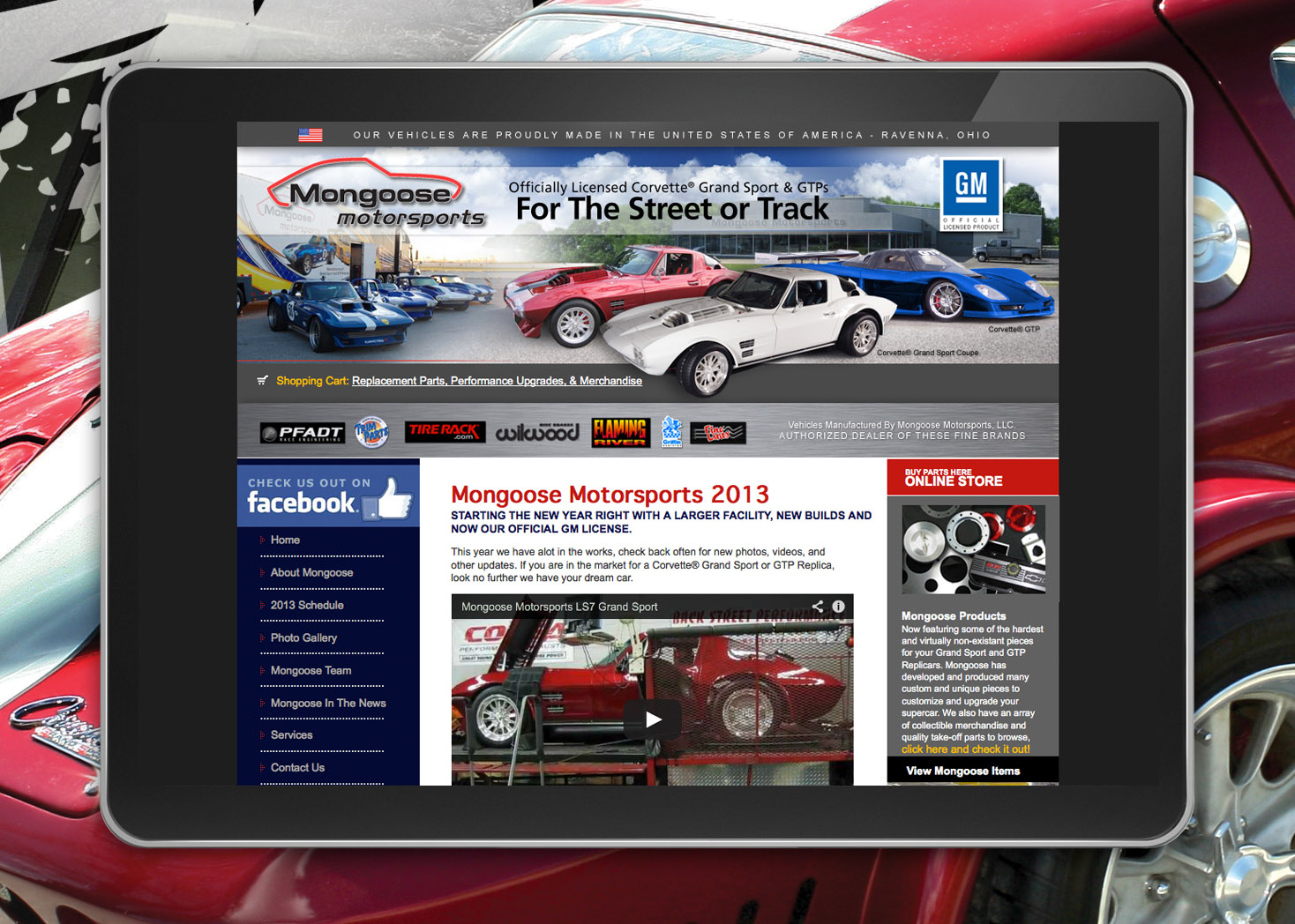 Mongoose Motorsports - Website Design - Les Lehman Design