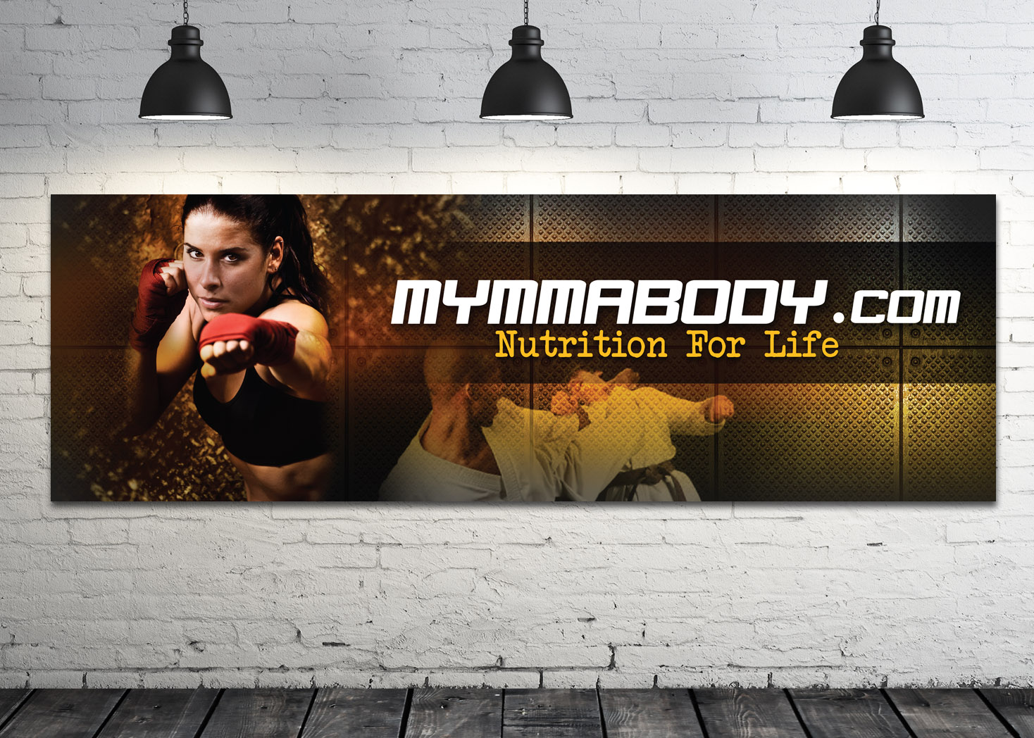 My MMA Body - Fitness and Nutrition Signage Design - Les Lehman Design
