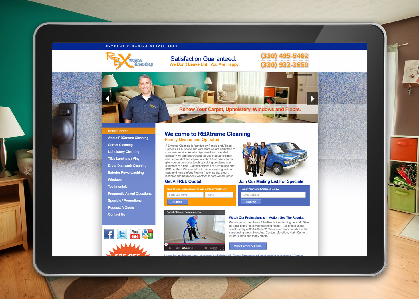 RBXtreme Cleaning Website Design - Les Lehman Design