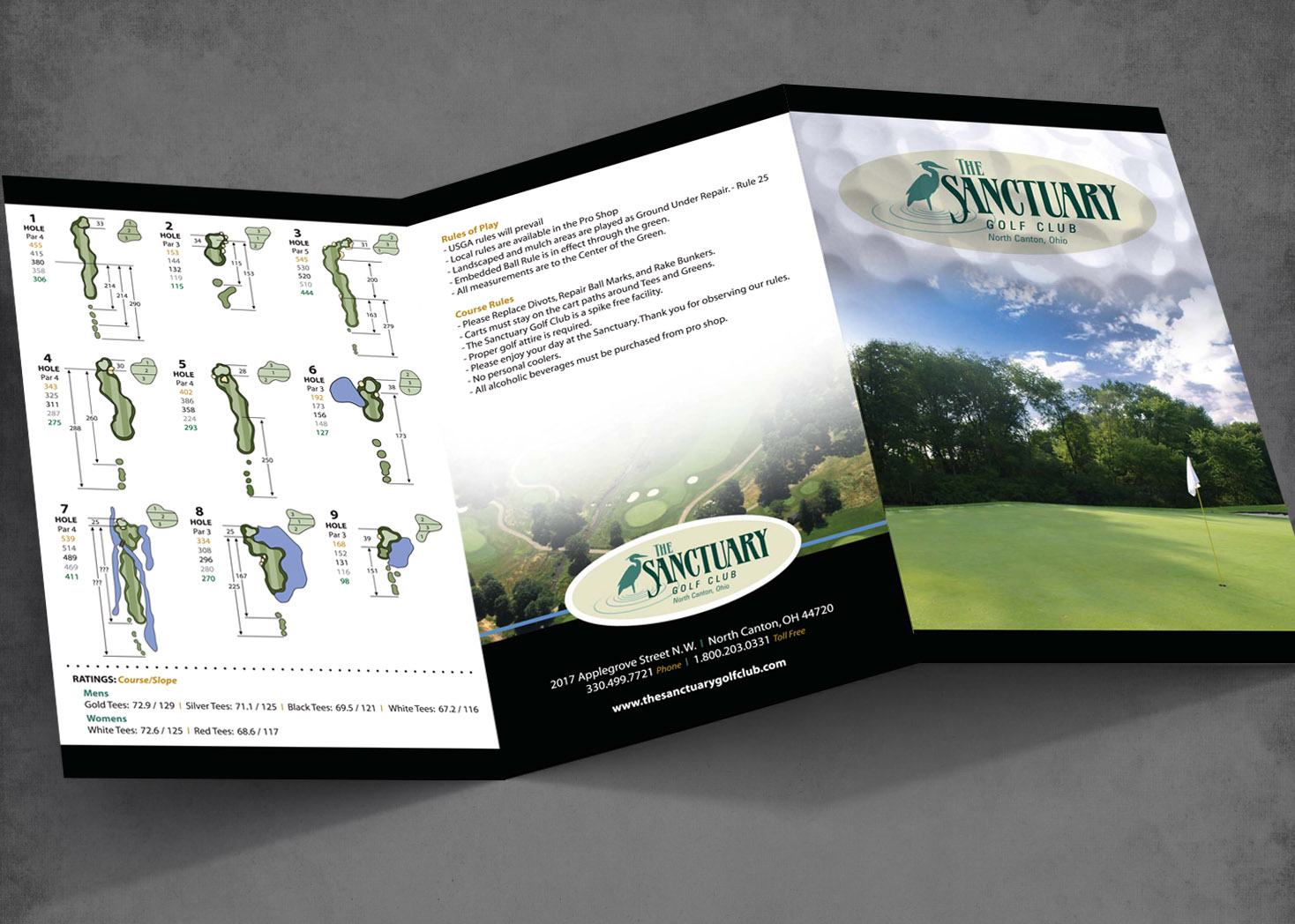 Sanctuary Golf Club - Scorecard Design - Lehman Design