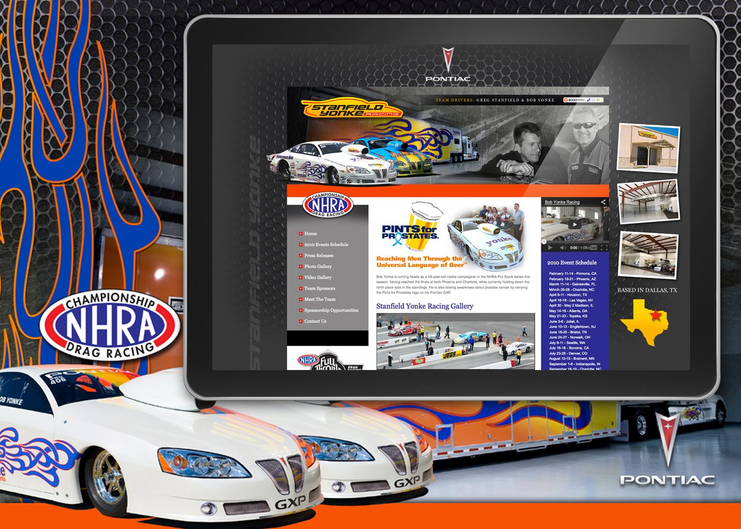 Stanfield Yonke Racing - Website Design - Lehman Design