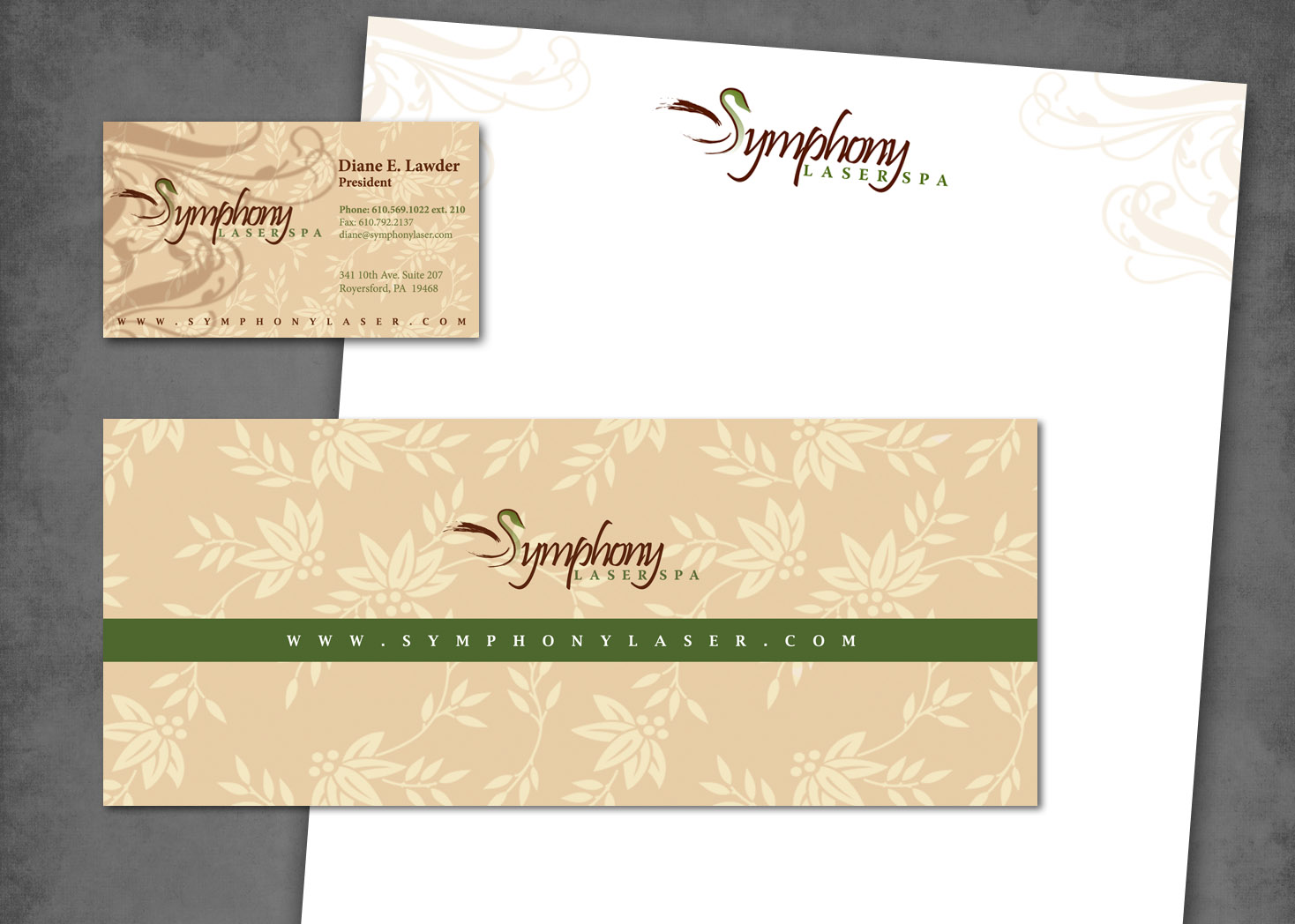 Symphony Laser Spa - Collateral Design - Lehman Design