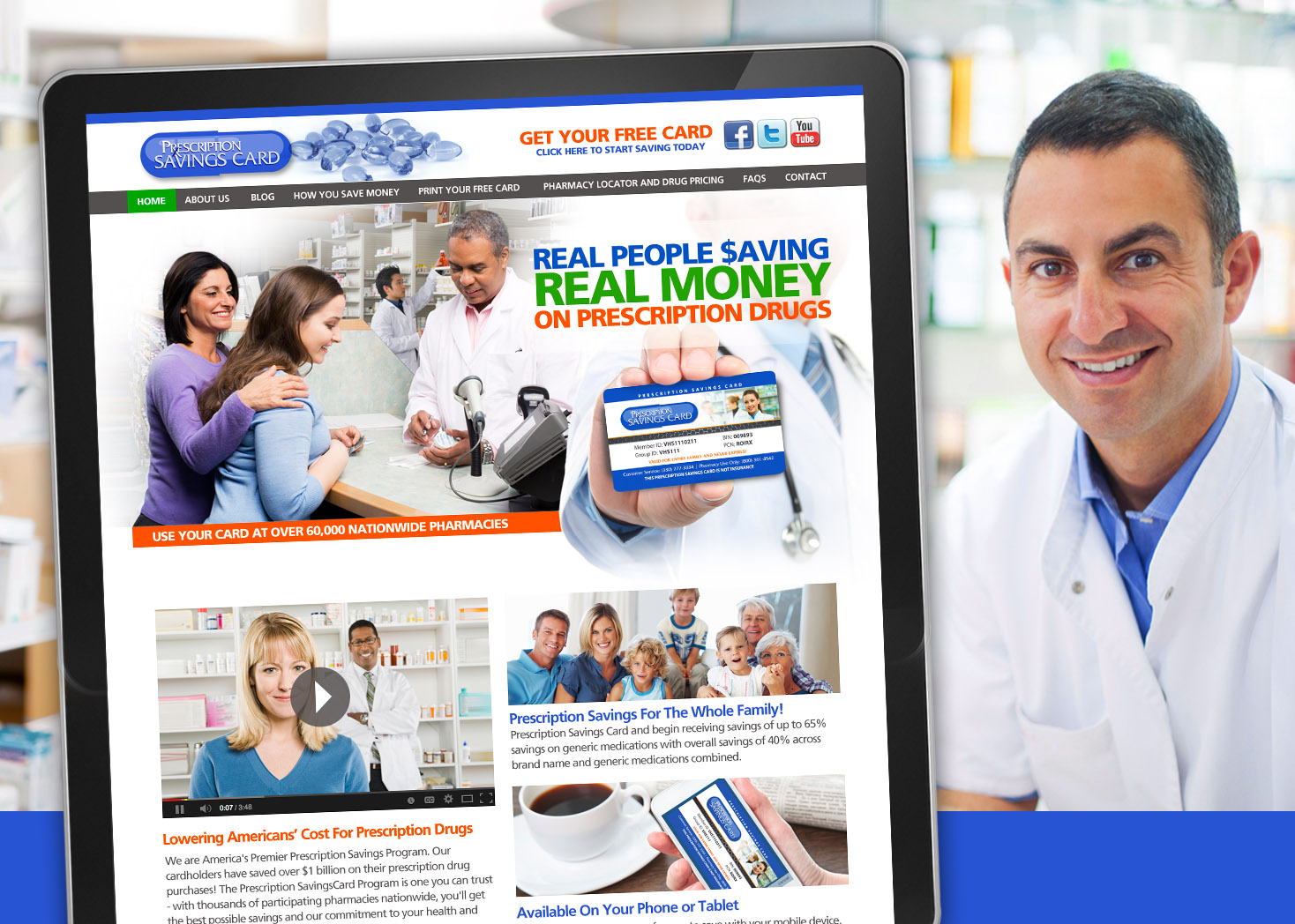 The Prescription Savings Card - Website Design - Les Lehman Design