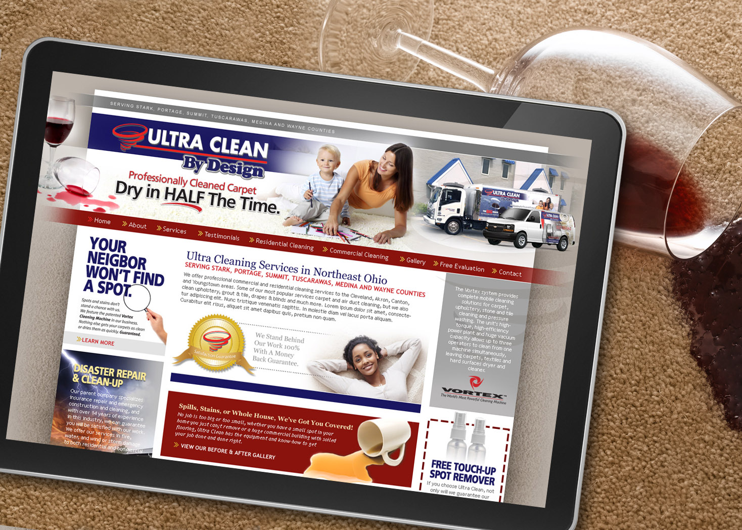 Ultra Clean By Design - Website Design - Les Lehman Design