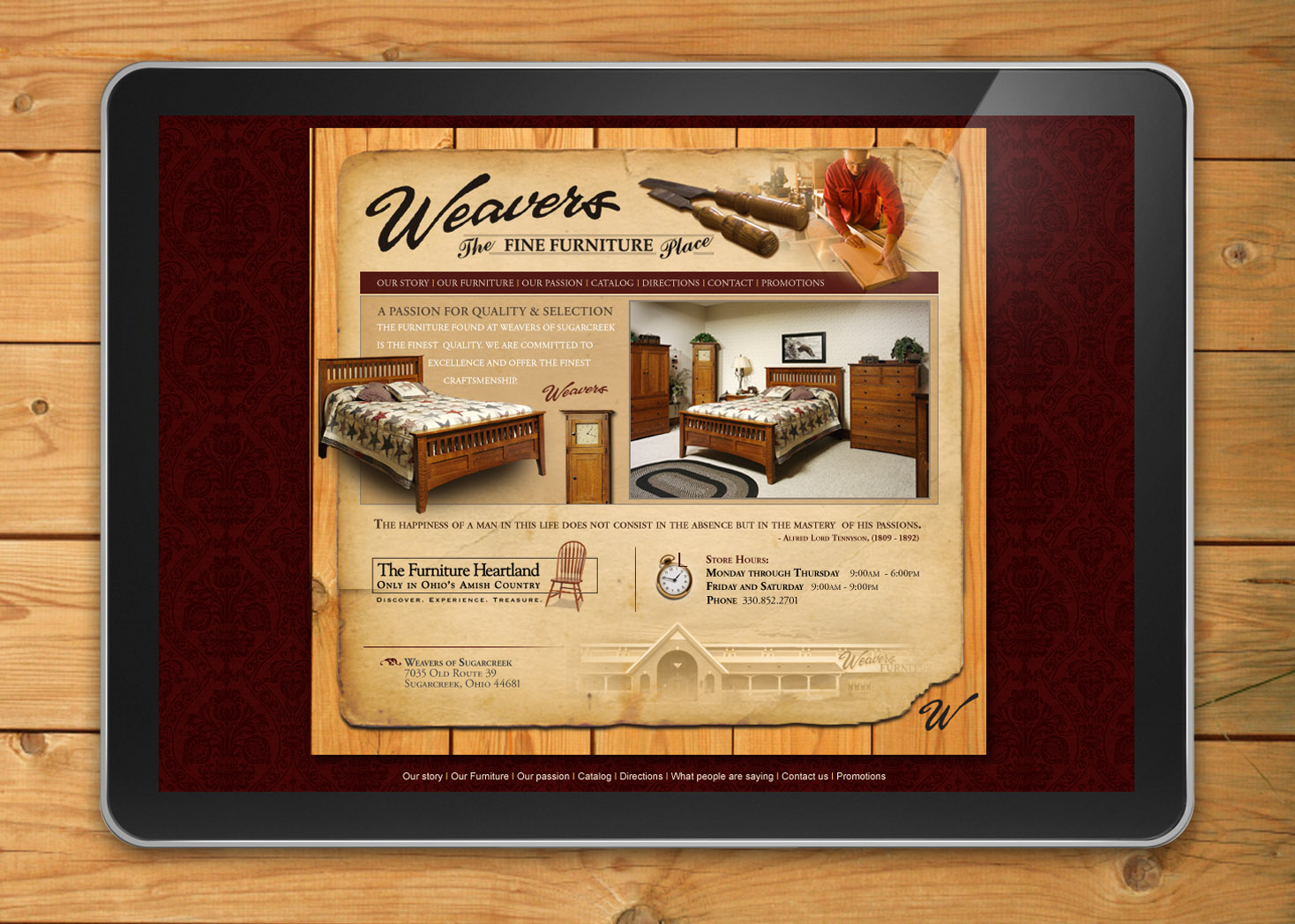 Weavers Furniture - Website Design - Lehman Design