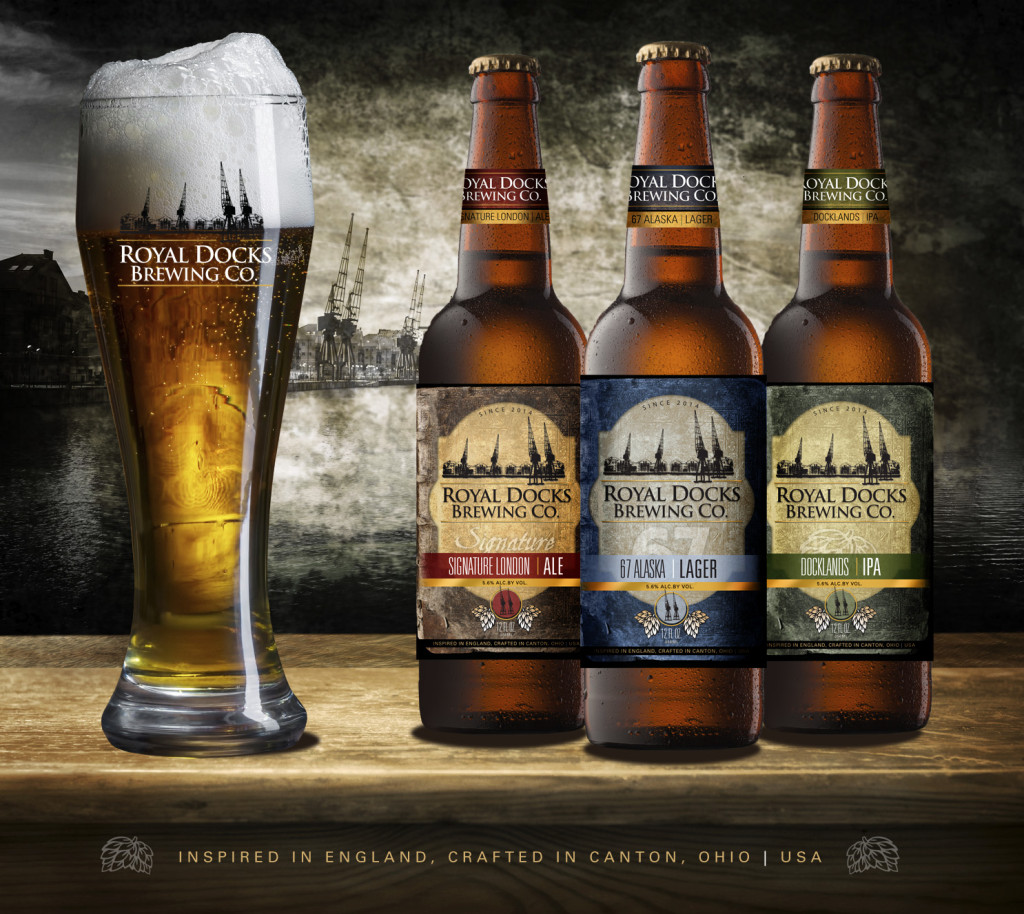 Royal Docks Brewing Company - Label Design - Les Lehman Design