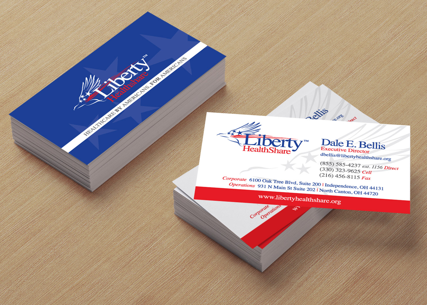 Liberty HealthShare - Business Card Design - Les Lehman Design