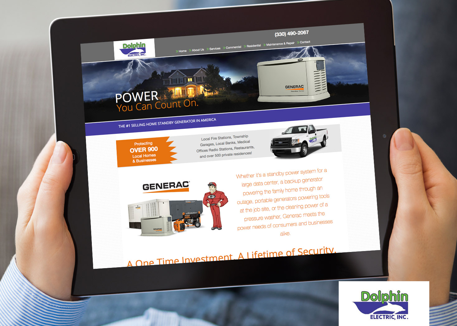 Dolphin Electric - Website Design - Les Lehman Design