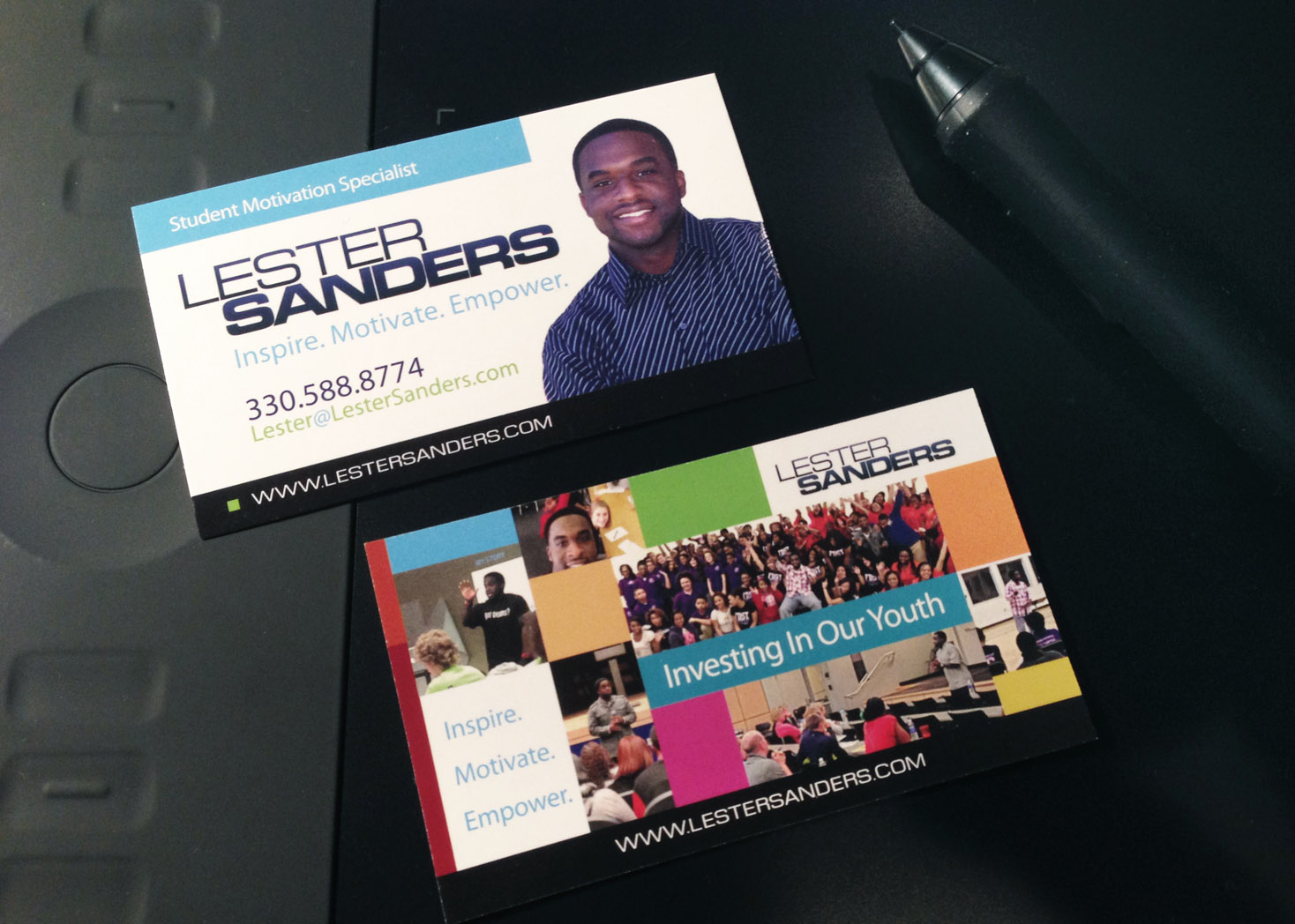 Lester Sanders - Business Card Design - Les Lehman Design
