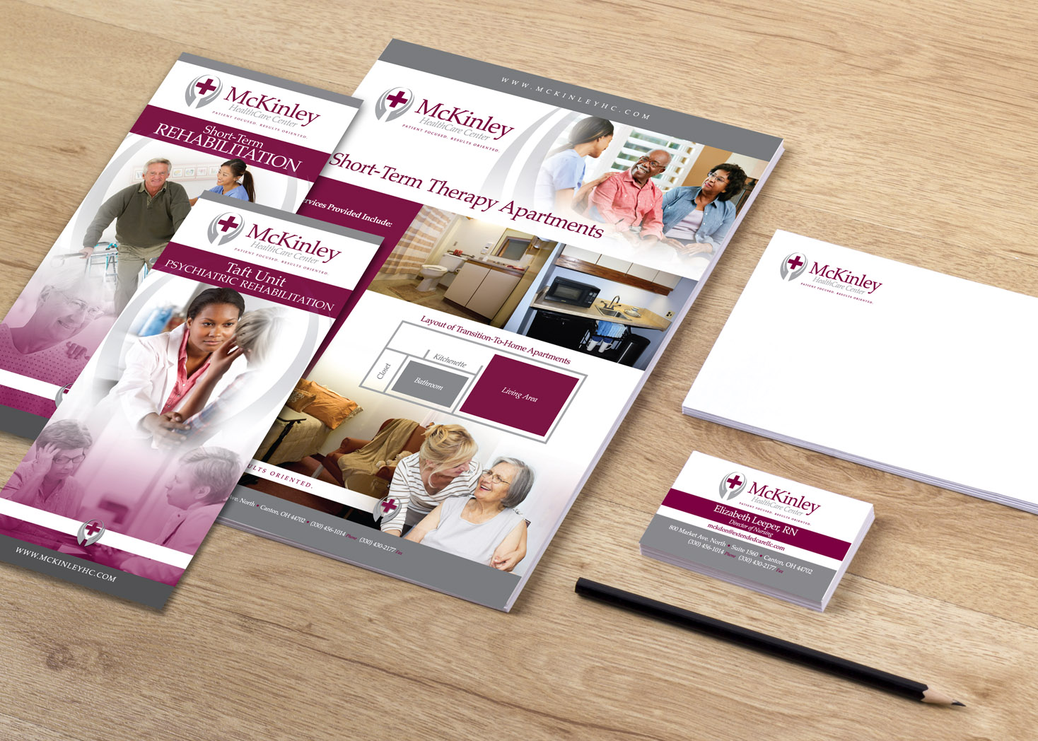 McKinley Healthcare Center - Collateral Design - Les Lehman Design