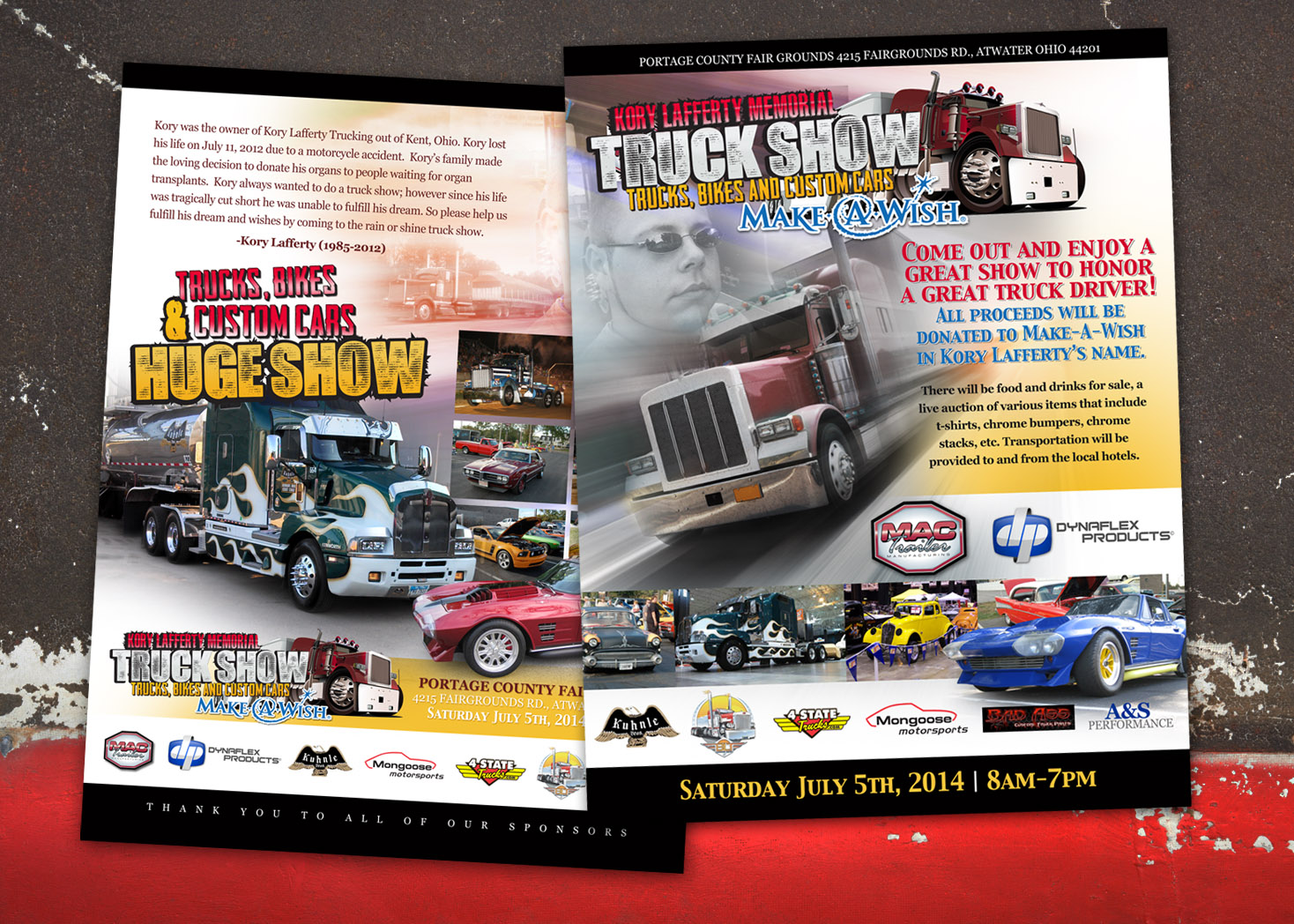 Kory Lafferty Memorial Truck Show - Flyer Design - Les Lehman Design