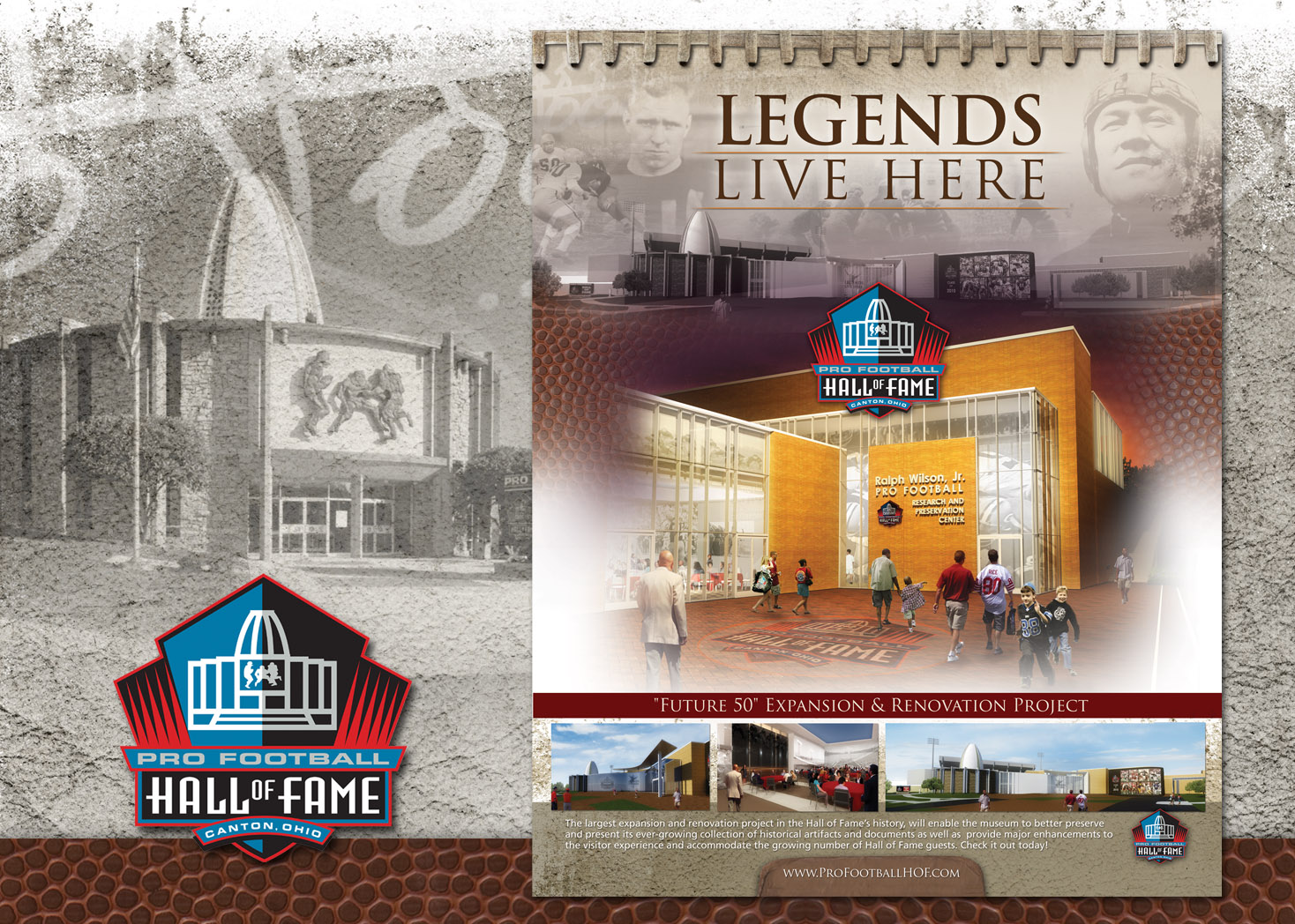 Pro Football Hall of Fame - Magazine Ad Design - Les Lehman Design